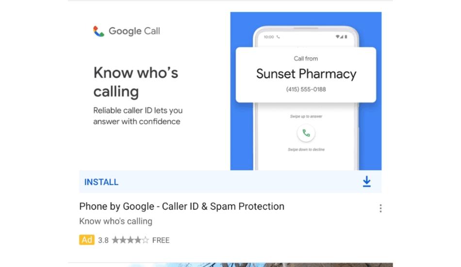 Google Call ad