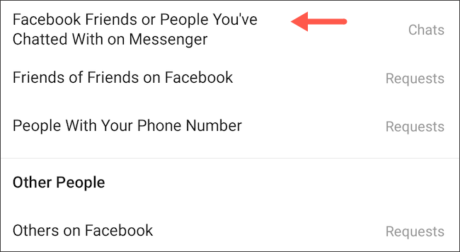 Facebook Messenger Instagram DM message controls