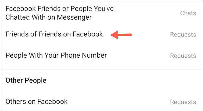 Block friends of Facebook friends to message you on Instagram