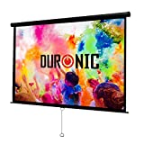 Image of Duronic Projector Screen MPS100/169 Manual Pull Down HD Projection Screen For | School | Theatre | Cinema | Home Projector Screen - 100-16:9 Widescreen- Matte White Screen - Wall Ceiling Mountable 4K / 8K Ultra HDR 3D Ready (16:9)