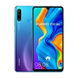 Image of Huawei P30 Lite 128 GB 6.15 inch FHD Dewdrop Display Smartphone with MP AI Ultra-wide Triple Camera, 4GB RAM, Android 9.0 Sim-Free Mobile Phone, Single SIM, UK Version, Blue