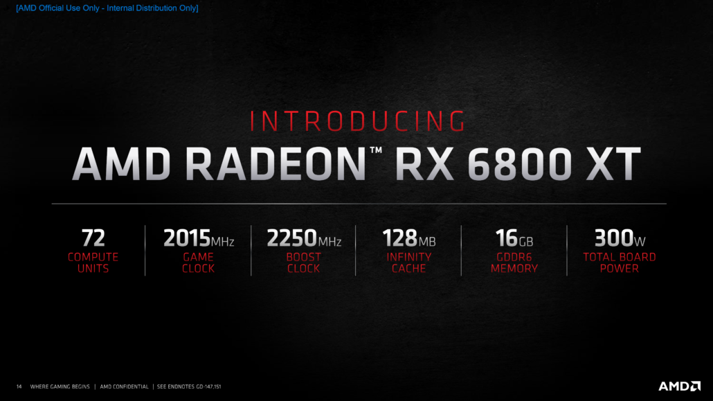 AMD Radeon RX 6800 XT Graphics Card Specs