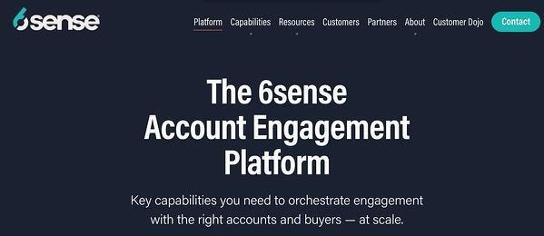 6sense account engagement ad management tool