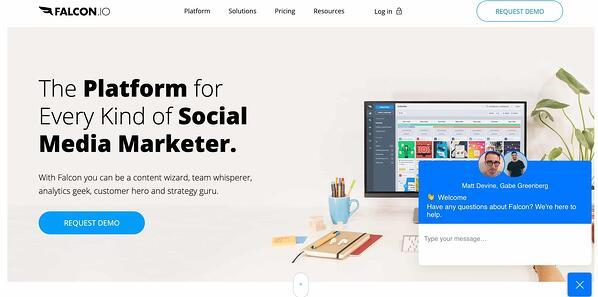 falcon.io social media management tool