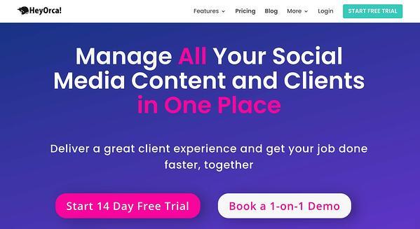 heyorca! social media management tool for agencies