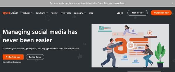 agorapulse social media management tool for small businesses