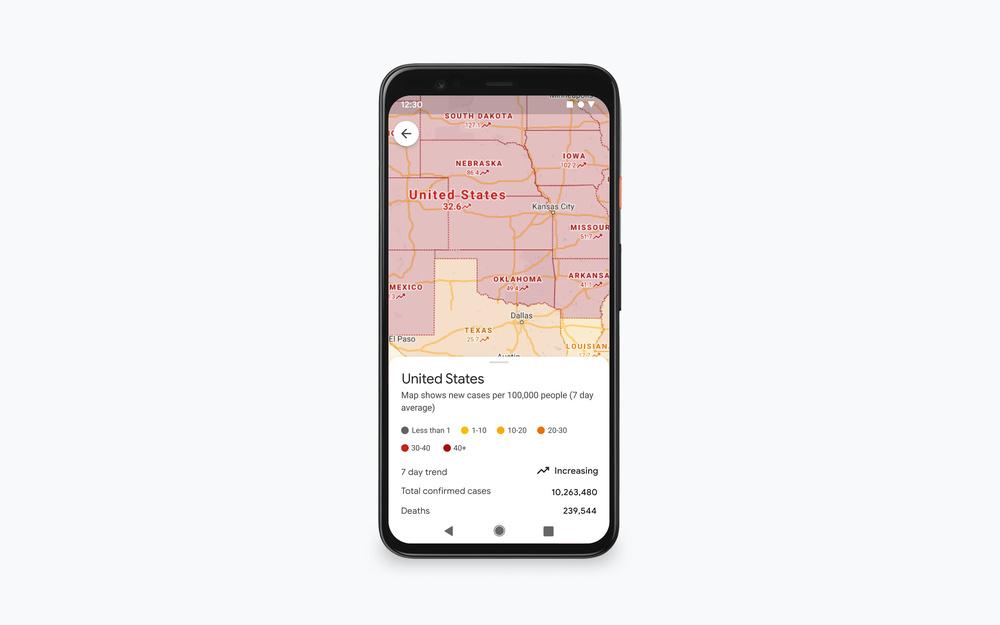 Google Maps Covid Layer
