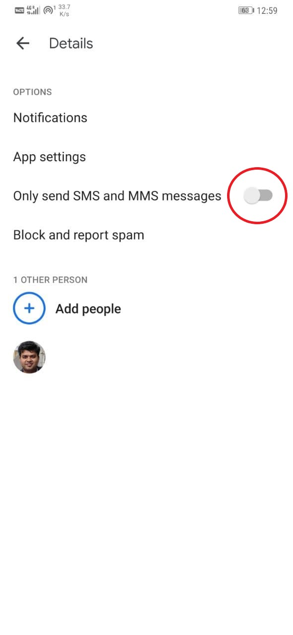 Disable Chat Features for a Particular Contact