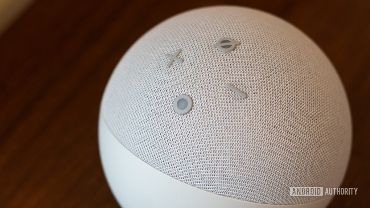 Echo Dot 2020 fourth generation media controls