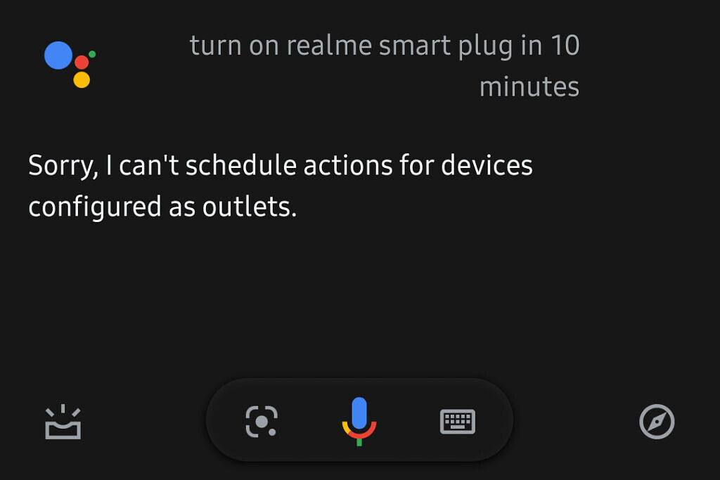Google Assistant Scheduled Actions smart plug