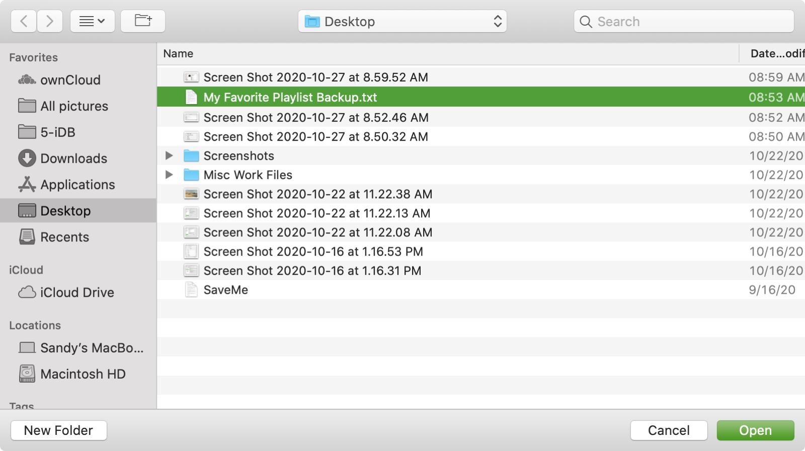 Import an Apple Music Playlist on Mac