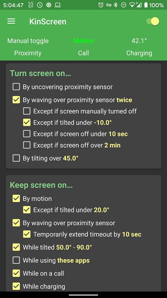 KinScreen settings 1