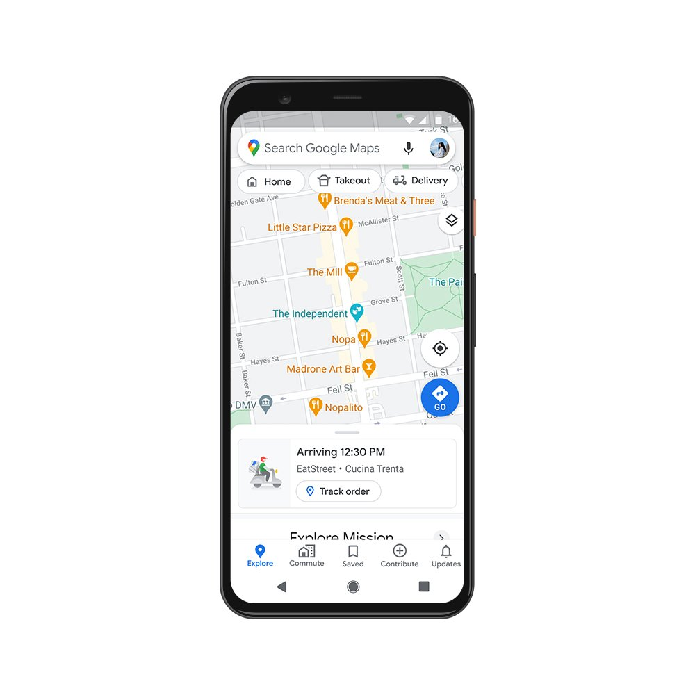 Google Maps Live Food Delivery