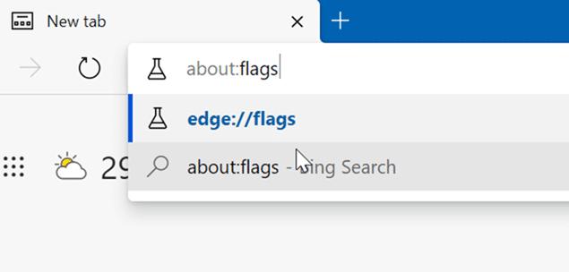 Microsoft Edge vertical tabs pic1