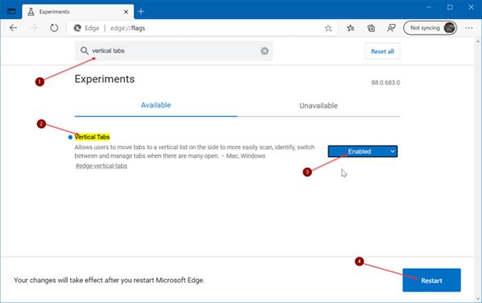 Microsoft Edge vertical tabs pic3