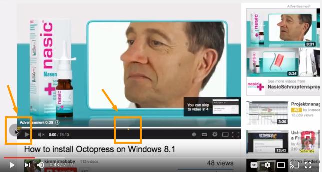 Midroll preroll ad on YouTube