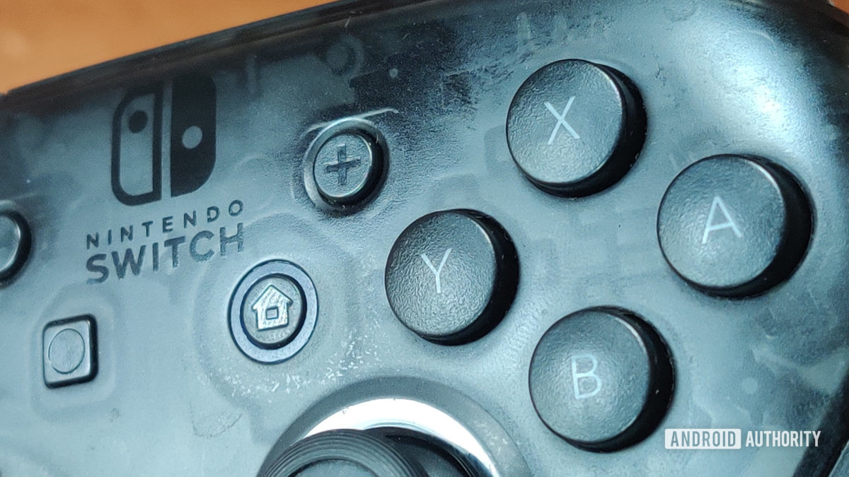 Nintendo Switch Pro Controller review textured buttons