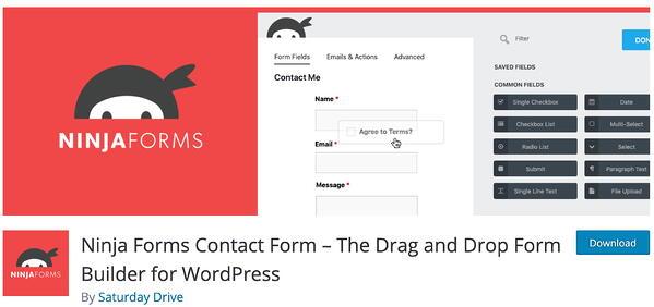 ninja forms lead generation wordpress plugin