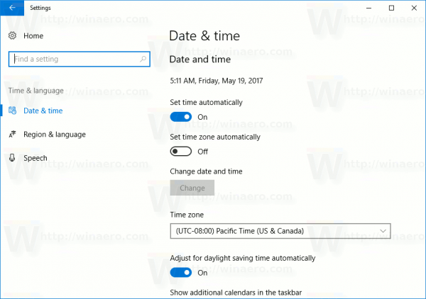 Settings Time And Language