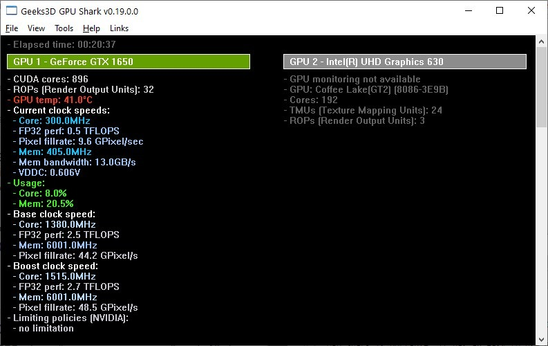 View advanced information about your graphics card with GPU Shark