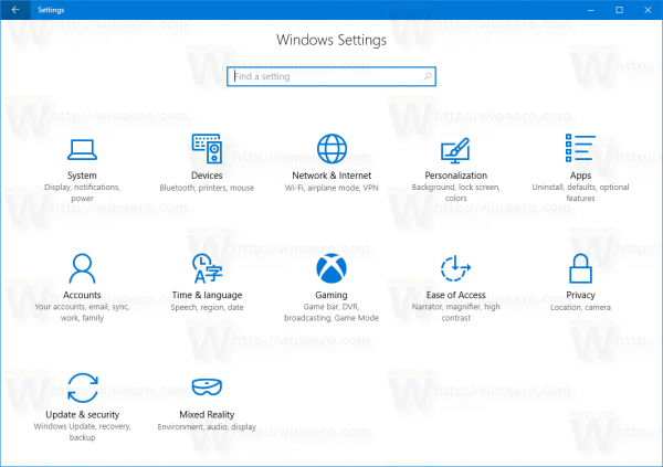Windows 10 Creators Update Settings 15019