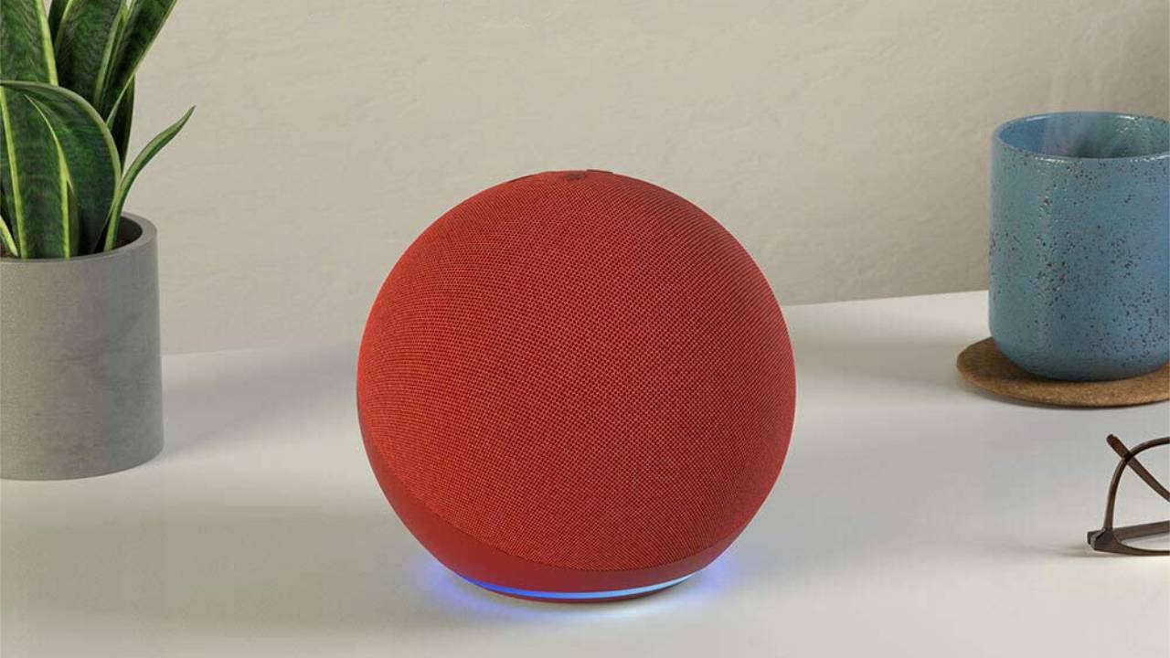 Amazon just revealed a bright new PRODUCT(RED) Echo speaker
