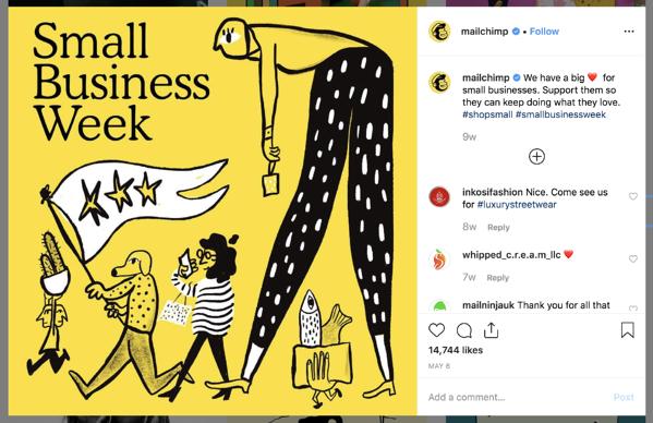 b2b-marketing-social-media-mailchimp-instagram