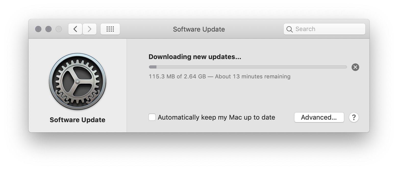 Cancel macOS download