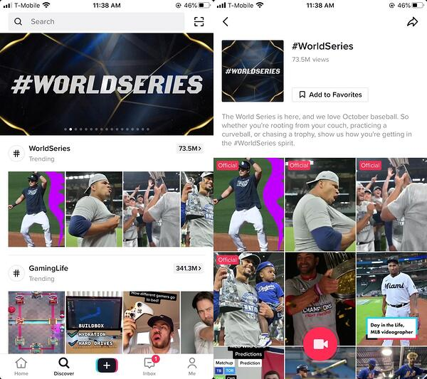 tiktok discover page branded hashtag landing page demo