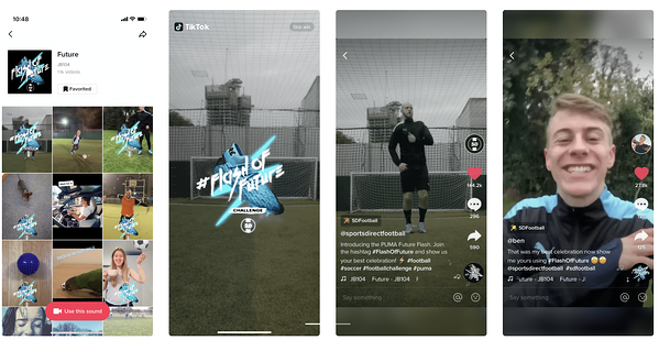 puma shoes branded effects tiktok example