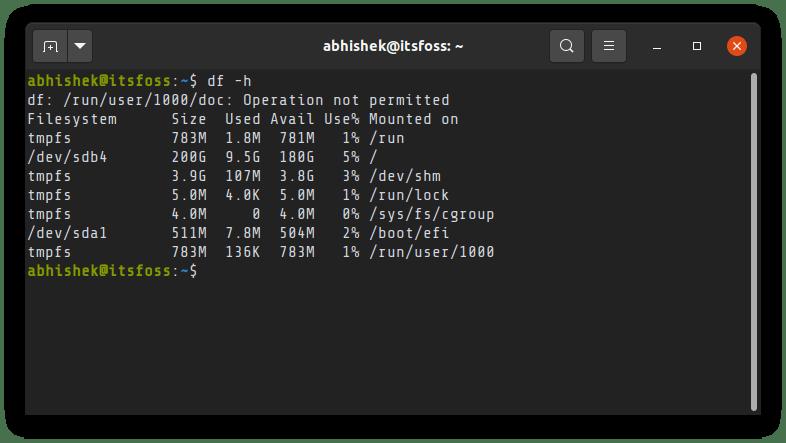 Df Command Ubuntu 1