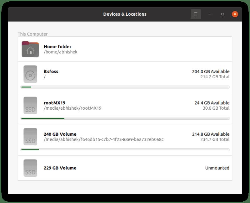 Free Disk Space Ubuntu Desktop