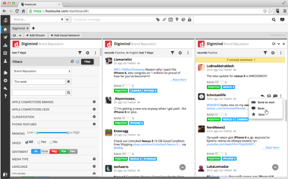 hootsuite dashboard example