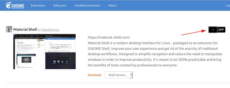 Install Material Shell