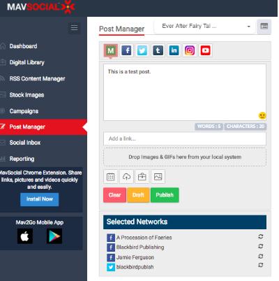 mavsocial dashboard example
