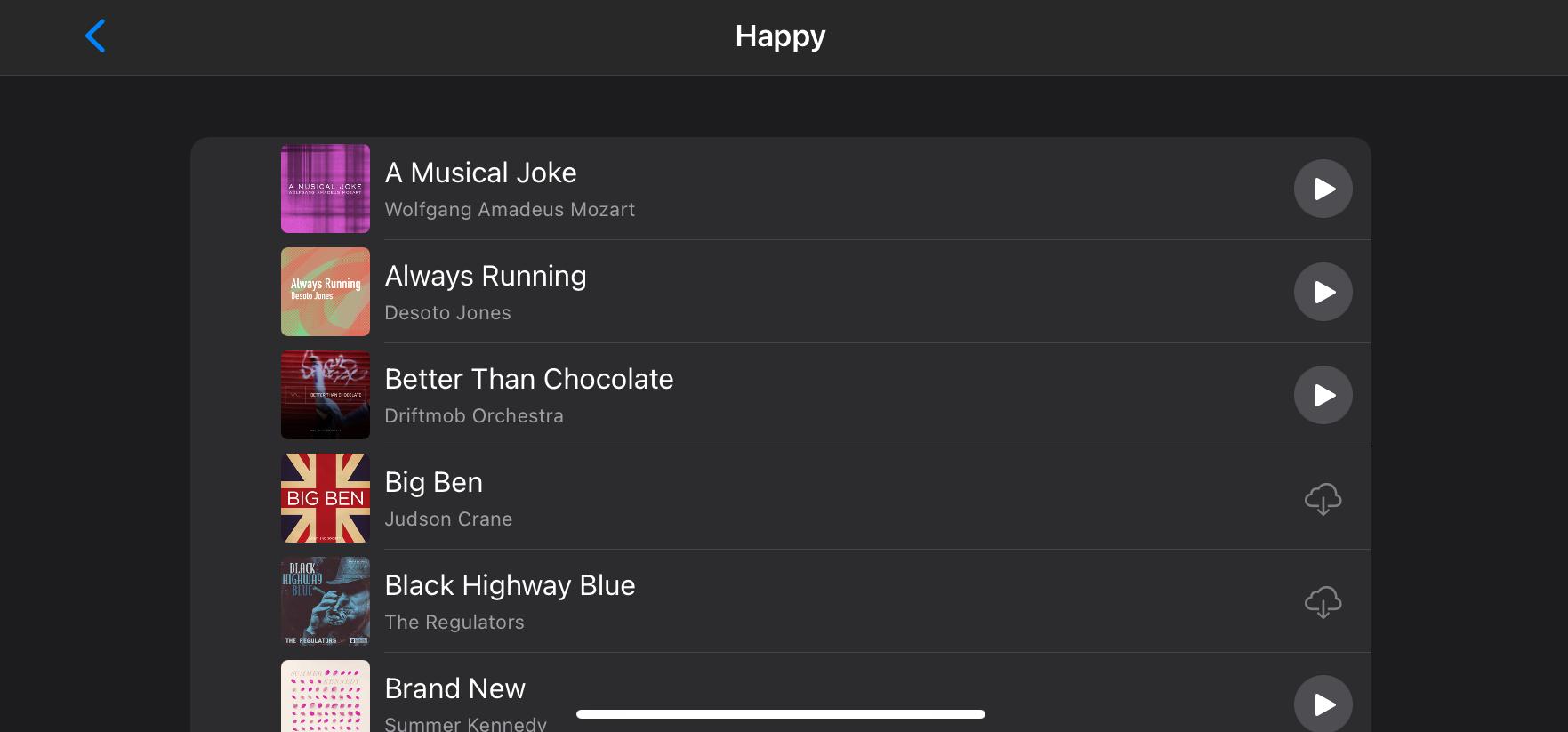 Music Choices Memories iPhone