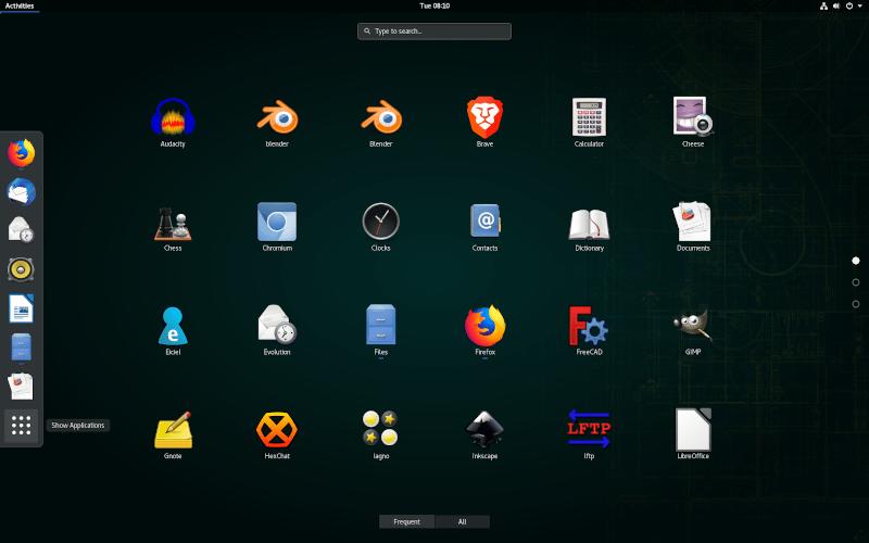 Opensuse 15.1 GNOME screenshot