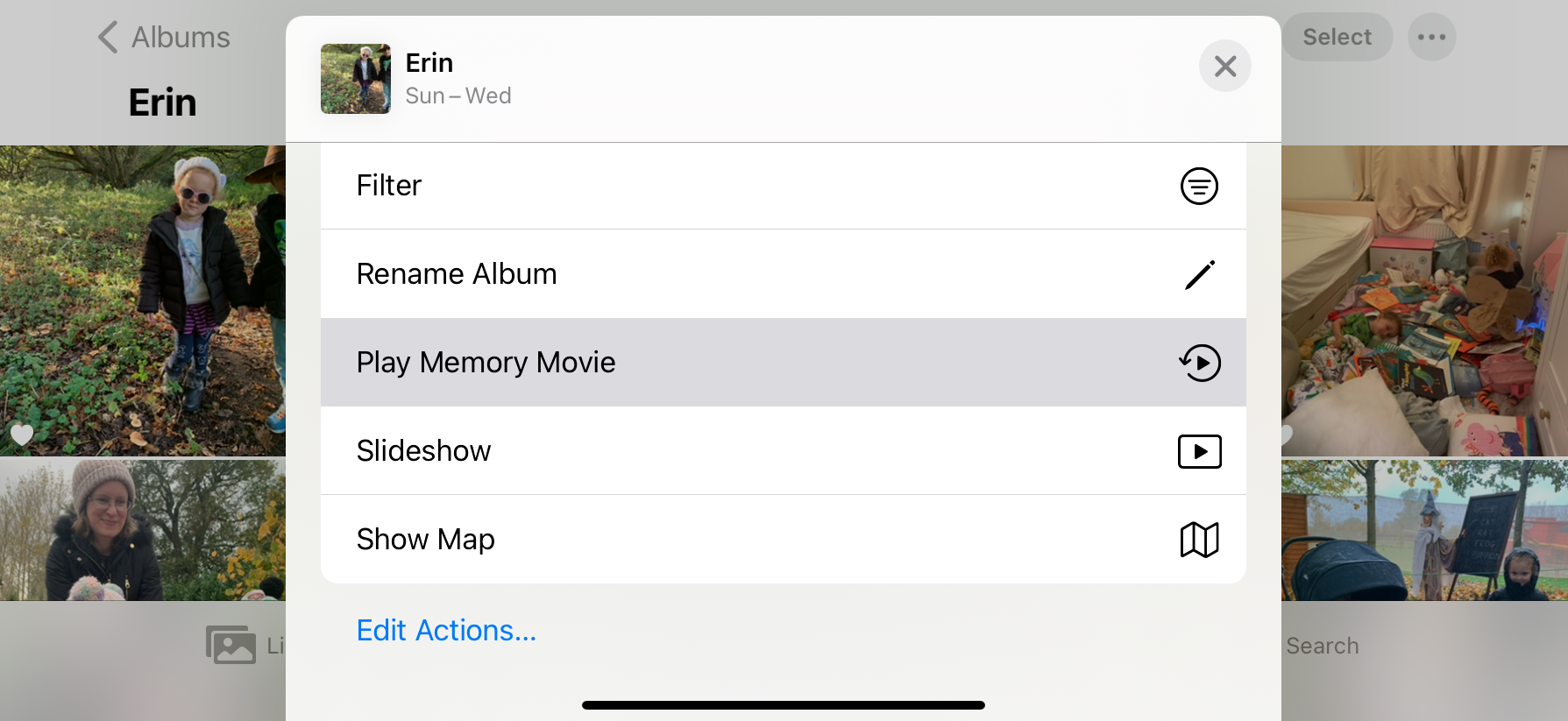Play Memory Movie iPhone