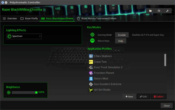Polychromatic - OpenRazer GUI