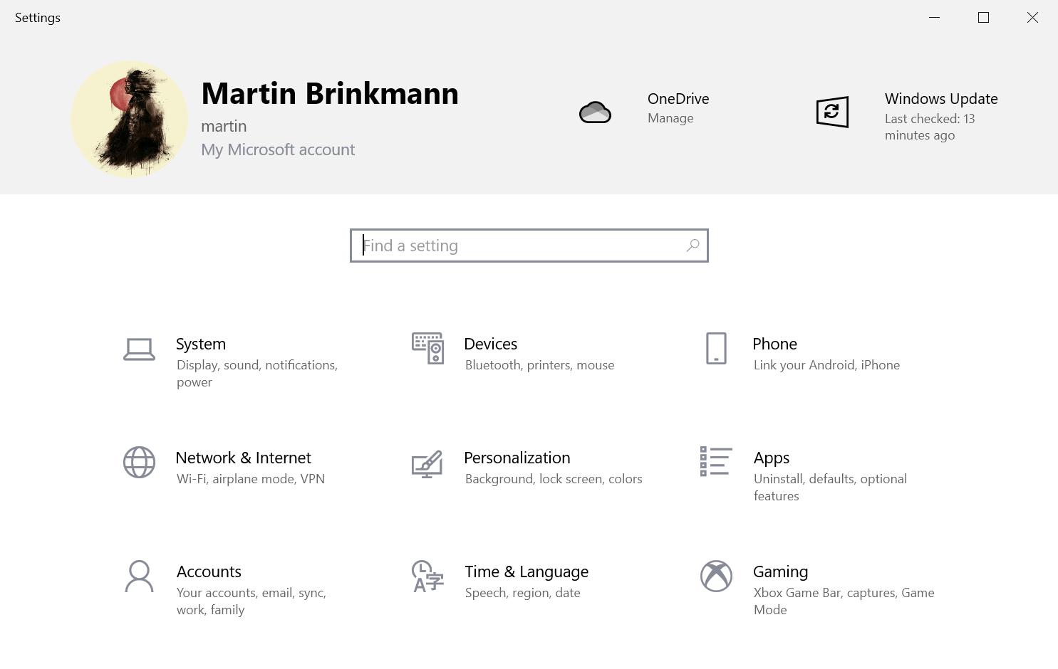 settings app banner