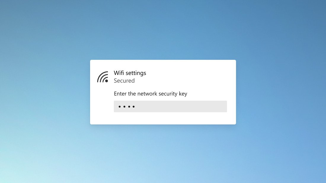 Rounded corner in a Wifi settings dialog