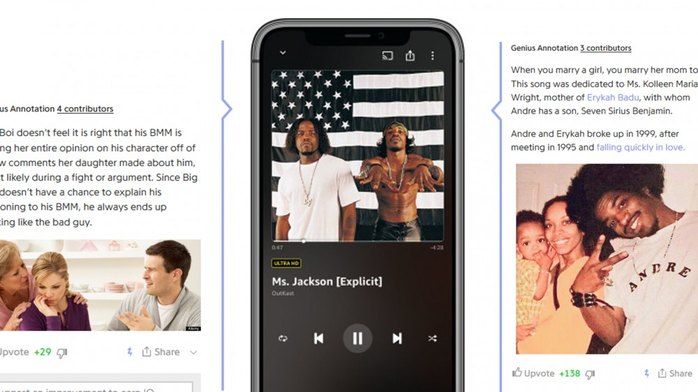 Amazon Music now uses X-Ray to show Genius-like annotations, trivia, and lyrics for songs.