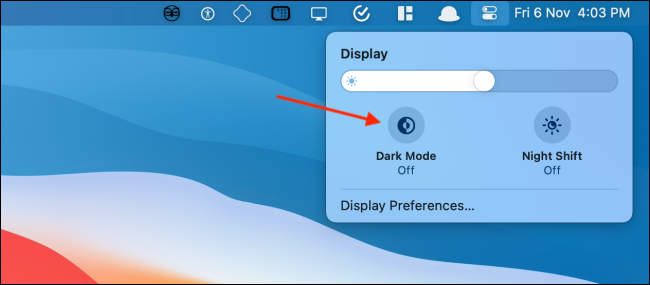 Click Dark Mode to Enable the Feature
