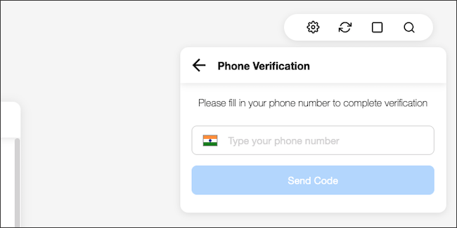 Type in your WhatsApp-connected phone number.