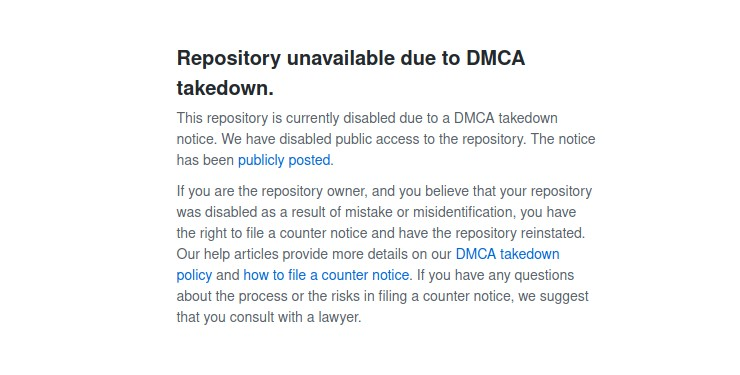 YouTube-dl DMCA notice