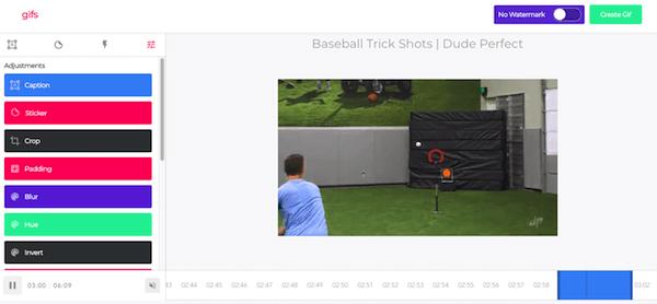 Astuce YouTube pour créer un GIF à partir d'une vidéo.