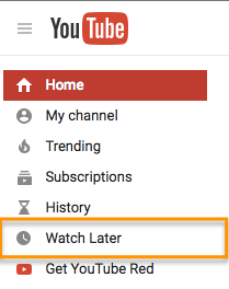 YouTube regarder plus tard.