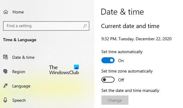 Ajuster pour l'heure d'été dans Windows 10