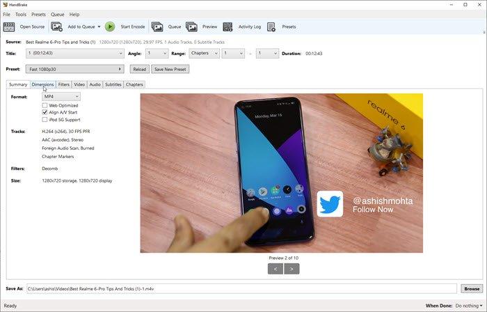 HandBrake alternative software to Rip DVDs on Windows 10