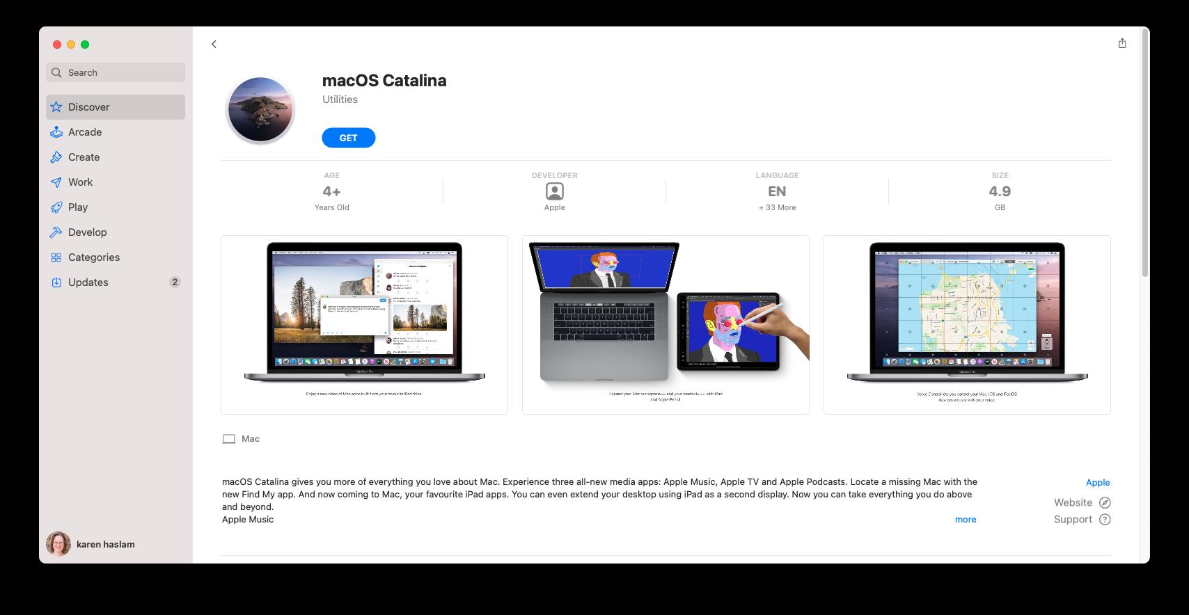 Catalina Mac App Store